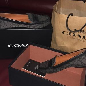 Coach signature loafers